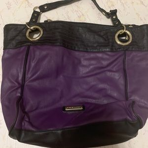 Steve Madden Purple and Black Tote